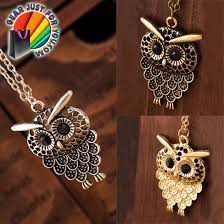 vintage owl necklace jewelry images Best vintage old glamour long chain owl pendant necklace gear gif