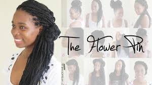 how to put bridal hairstyle box braids wedding hairstyle the flower pin youtube