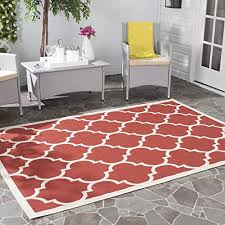 4 X 5 Outdoor Rug Safavieh Courtyard Collection Cy6914 248 Red And Bone Indoor