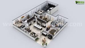 Modern House 3d Floor Plan Arch Student Com Floor Plans House 3d