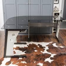 l shaped desk glass l shaped desk ebay with glass l shaped office desk eyyc17 com