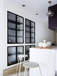 dining room glass cabinet kitchen walls inch cabinets doors dark used hardware handles