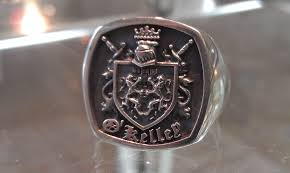 family ring custom sterling silver family crest ring for men by paul michael