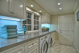 standard counter height laundry room beach with foor tile ceiling