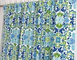 Teal Damask Curtains Blue And Green Curtains Blue Damask Curtains Window Curtains Teal