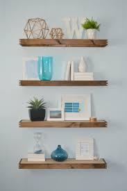 decor rustic modern floating bookshelves with beautiful indoor