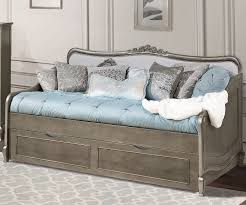 Daybed For Boys Kensington Silver Finish Elizabeth Daybed With Trundle 30040 Ne