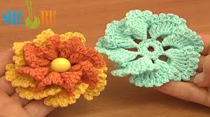 Crocheted Flowers - crochet two layered flower free pattern we invite you to visit