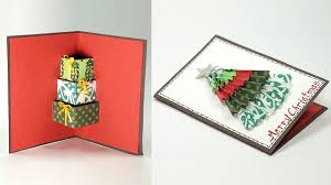 diy 3d christmas card handmade christmas pop up card crafting