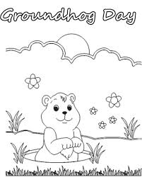groundhog day coloring pages getcoloringpages with groundhog day