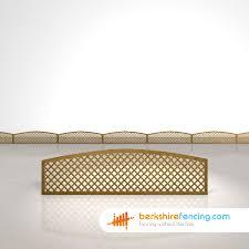 convex diamond privacy trellis fence panels 1 5ft x 6ft brown