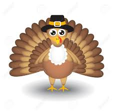 white thanksgiving cartoon turkey on white background for thanksgiving day royalty