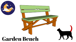 free garden bench plans youtube