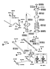 lexus es300 rear suspension lexus es300 vcv10l btmgka 48710a arm assy rear suspension no 1 rh