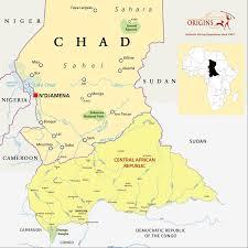 Chad Map The Interior Origins Safaris