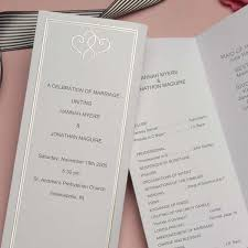 tri fold wedding programs tri fold program paper business mate