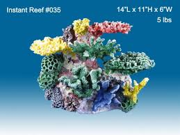 instant reef r035 artificial coral reef aquarium decor for