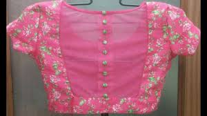 net blouse pattern 2015 back button blouse designs youtube