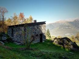 modern stone cabin in northern italy is a romantic gem 14 the