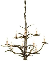 Currey And Company Lighting Currey And Company 9327 Treetop 9 Light Chandelier Old Iron