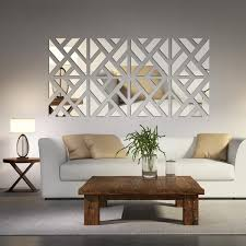 decorations for the home mirrored chevron print wall decoration