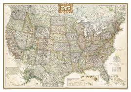 map usa framed u s political map earth toned mounted national geographic store