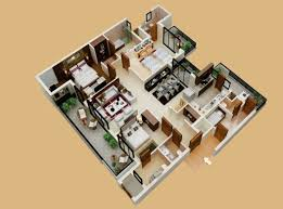 50 three u201c3 u201d bedroom apartment house plans ideachannels