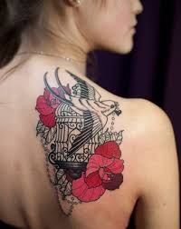 shoulder tattoo designs for females creativefan
