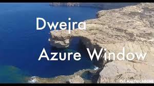 dwejra azure window gozo 4k drone 2016 youtube