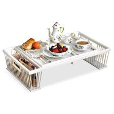 breakfast bed tray with reading rack painted wooden u0026 decoupage