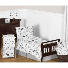sweet jojo designs fox black and white crib bedding collection