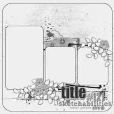 78 best scrapbook 3 photo sketches images on pinterest photo
