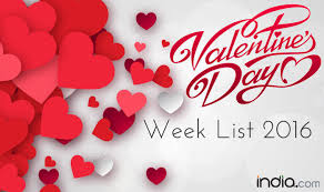 valentines day for week list 2016 day propose day day