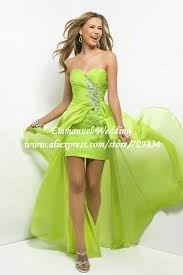 western style beaded sweetheart lime green chiffon prom dress