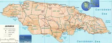 jamaica physical map map physical jamaica mapsof net