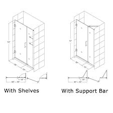 glass shower door hinge dreamline unidoor 42 to 43