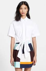 msgm tie front crop shirt where to buy u0026 how to wear