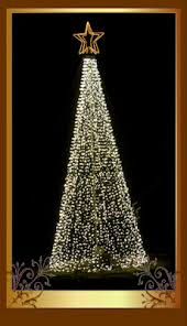 simple mega tree lights going to ground
