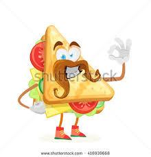 Okay Merry Character Mascot Merry Sandwich Big Ears Stock Vector 416939668