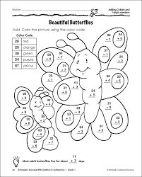 color by number double digit multiplication worksheets 2 by