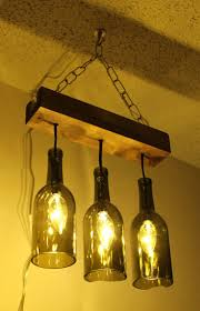 Diy Kitchen Lighting Ideas by Best 25 Wine Bottle Lamps Ideas Only On Pinterest Bottle Lamps