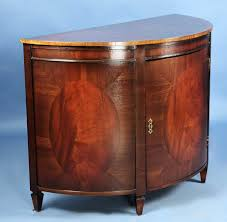 antique style mahogany bow fronted buffet sideboard server cabinet
