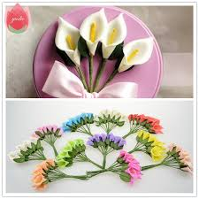 Cheap Flowers For Wedding Online Shop 2017 12pcs Foam Pure White Calla Artificial Flowers