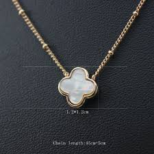 necklace brand images Fashion clover necklace for women luxury statement brand stud jpg