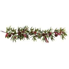 54 inch artificial holly berry garland christmas trees