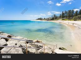 cottesloe beach and the indiana tea house on a summer day with a
