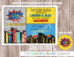 superhero baby shower invitations u2013 gangcraft net