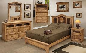 Rustic Bedroom Furniture And Pine Bedroom Furniture W Cowhide - Cowhide bedroom furniture
