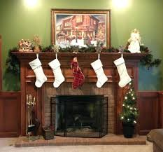 hang stockings fireplace with clipart above stockings over gas