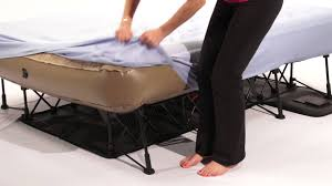 Folding Air Bed Frame Outstanding Everyday Living Instantueen Air With Frame At Kmart